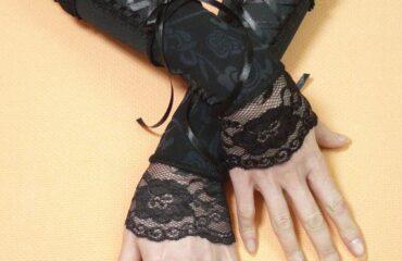 10 Most Beautiful Long Black Satin Evening Gloves
